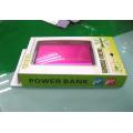 Caixa de papel plástica do fabricante para o banco do poder (pacote plástico do presente)