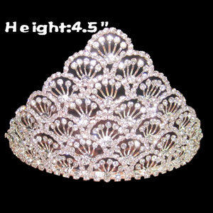 Feather Shaped Crystal Small Pageant Crowns
