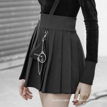 2020 New Fashion Black Short Skirt School Girl Black Short Skirt PUNK RAVE OPQ477