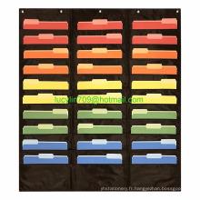 Tableau de poche avec rangement de poche 30, organisateur de fichiers muraux suspendus Tableau de poche avec poche de rangement de 30 po, organisateur de fichiers muraux suspendus