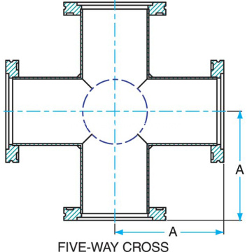 Vácuo ISO 5WAY Cross