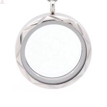 Medallón de muestra gratis de plata antiguo, medallón de foto de pareja de cristal flotante de memoria