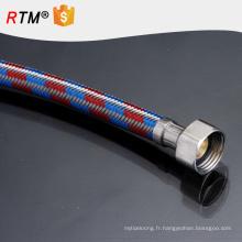 J9 ss304 tuyau flexible de toilette flexible résistant en acier inoxydable en acier inoxydable tressé ondulé ptfe téflon tube