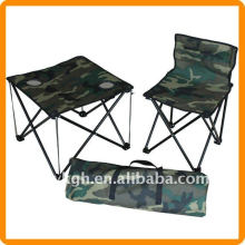 folding fishing chair and table with carry bag