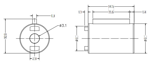 Barrel Damper Drawing of DY09A