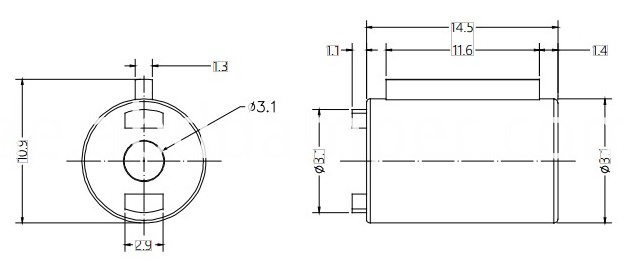 Barrel Damper Drawing of DY09A