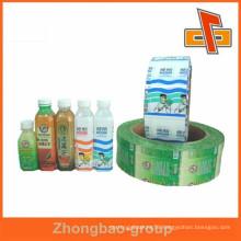 custom order accept PVC heat shrink type plastic bottle seal
