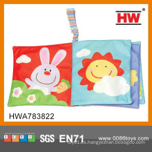 Libro colorido temprano del paño del bebé de aprendizaje de la alta calidad