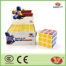 Juego mágico del cubo de los rompecabezas de los 7cm 4 PC por sistema juguetes educativos para los niños