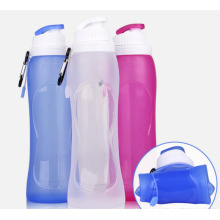 Sports folding silicone bottle