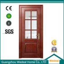 Porta de madeira curvada da madeira maciça do folheado para projetos das casas