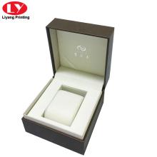 Boîte de montre en cuir pu personnalisée de haute qualité