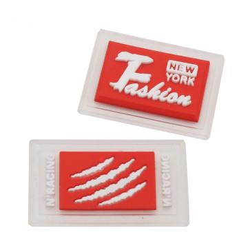 Etiquetas de transferência de calor de silicone com logotipo de roupas personalizadas