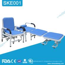 SKE001 Hôpital médical pliant dormir Accompagner chaise