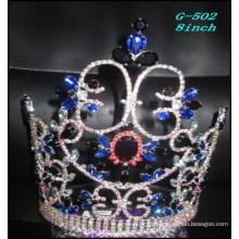 La joyería de plata de la joyería de la boda del desfile encabeza la corona inconsútil negra del pelo de la princesa de los cabritos
