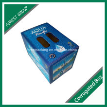 Caja de embalaje de cartón ondulado de impresión personalizada con mango