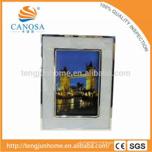 Eco Friendly Freshwater Shell Frame Photo with Silver Edge