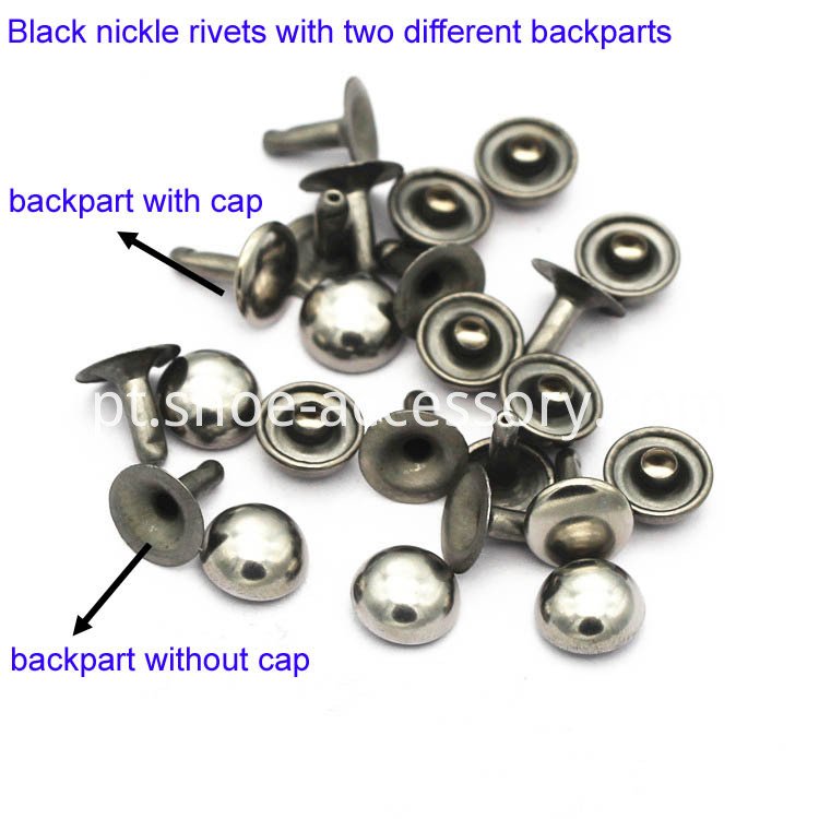 black nickle rivets with rivet backing