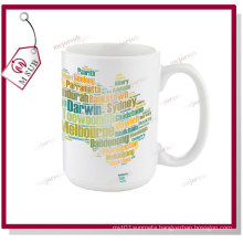 15oz White Mugs for Sublimation Printing by Mejorsub