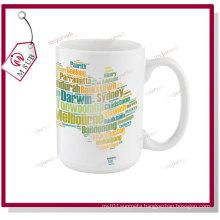 15oz White Mugs for Sublimation Printing by Mejorsub