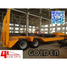 Golden 20T Two-axle Low Bed Semi Trailer/ Low Plate Semi Trailer