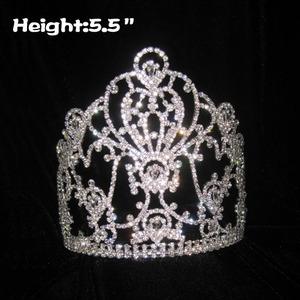 Venta al por mayor Clear Crystal Pageant Crowns