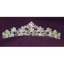Descuento Moda Personalizado Tiara De La Boda Brillante Corona De Cristal Bridal