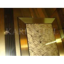 Haute qualité 201 acier inoxydable couleur Kmf004 miroir 8k feuille