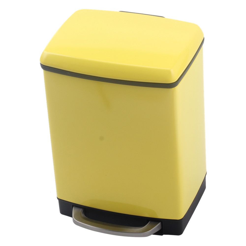 Painting Yellow Trash Can