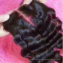7A 100 Unprocessed Brazilian Silk Top Bleached Knots Silk Base Lace Brazilian Lace Closure Body Wave Wavy Hair Weave Extensions