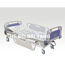 (A-59) - Lit d'hôpital manuel à usage unique mobile avec tête de lit ABS