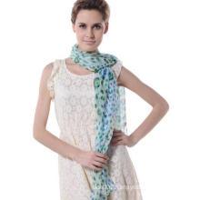 2017 Fashion Design Woman Good Quality Scarf Silk Silver Georgette Shawl (SP064)
