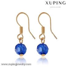 28205 xuping 18k joyería chapada en oro de lujo pendiente al por mayor