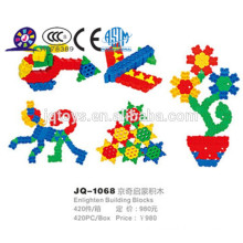 2016 plastic flower building blocks for kid