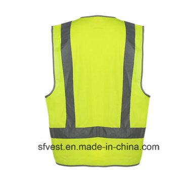 Colete de segurança reletiva de vestuário de trabalho de alta visibilidade com AS / NZS
