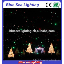 Fonctionnement activé / automatique / rideau led contrôlé par DMX / rideau étoile led / éclairage à rideau led