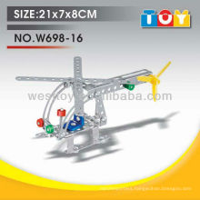Sell-well educational DIY metal helicoper play toy