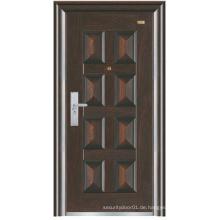 Schwarze Farbe Tiefe Prägung Panel Design Stahl Sicherheit Tür