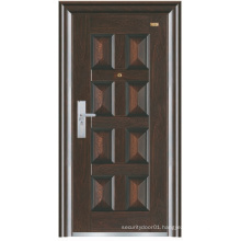 Black Colour Deep Embossing Panel Design Steel Security Door