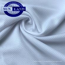 Tissu à mailles 100% polyester cool dry dry fit fit pour vêtements de sport