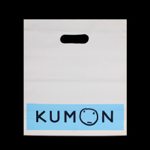 Custom Die Cut Logo Plastic Shopping Bag