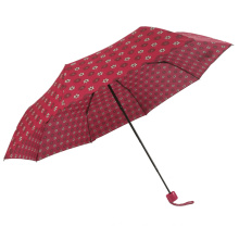 Fashion design different flower pattern long shaft 3fold umbrella for gift choice