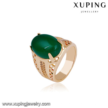 14722 xuping jewelry 18k gold plated funky new designs finger gold ring for women