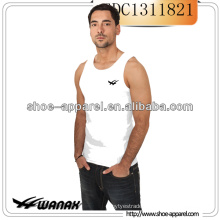 OEM Plain Men's Sleeveless T shirt / Tank Top White