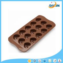 Wholesale BPA Free Baking Tools Heart Shape Silicone Chocolate Mold