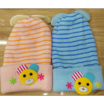 Venta al por mayor Knit Cap Embroidery Baby Hat