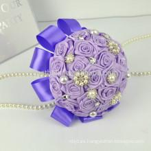 2017 nueva decoración perla artificial coloreado hermoso ramo de la boda