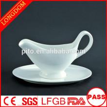 Hotel Supplies White Ceramic gravy bowl with saucer