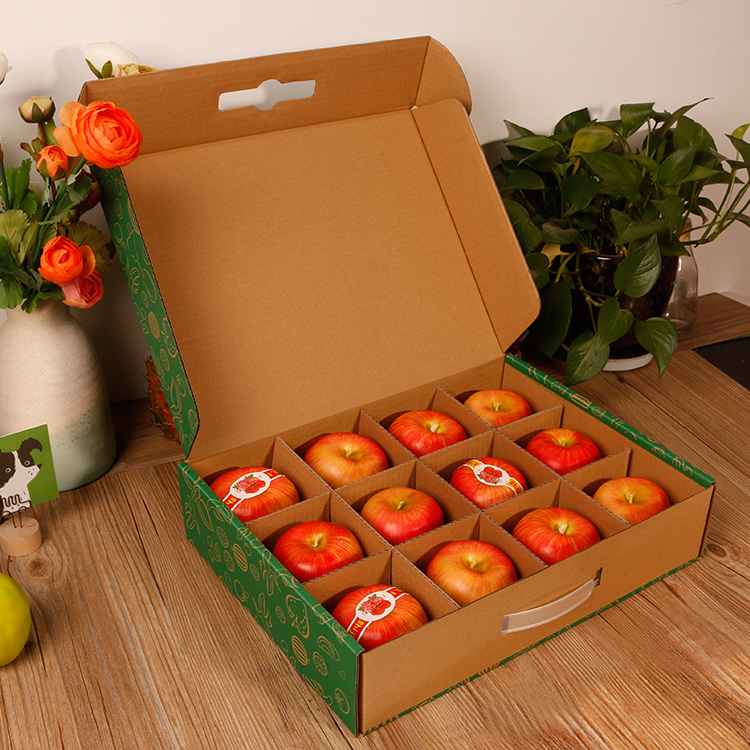 Corrugated Paper Fruit Packaging Box with Compartments