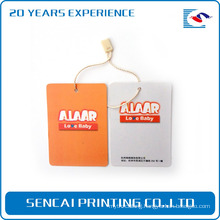 SenCai orange and silver double color tag with rope handle